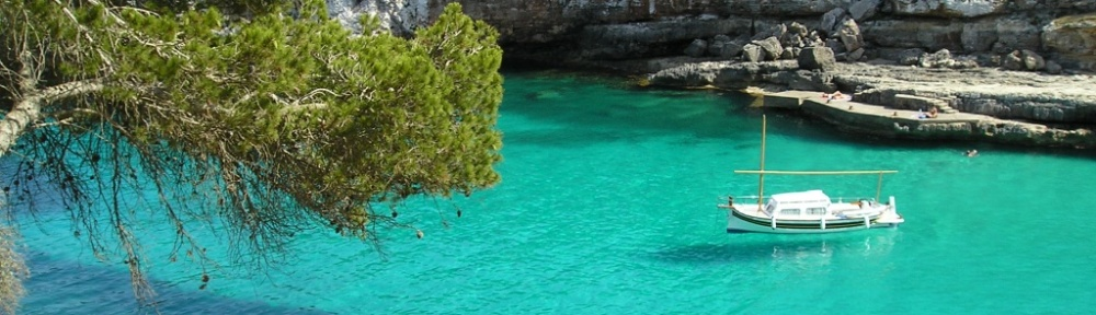Mallorca verscholen baai
